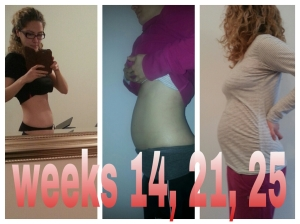 Pregnancy bump .... I've grown quite quickly from week 20....I actually look pregnant now!!!