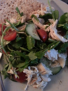 Chicken salad with wholemeal wrap