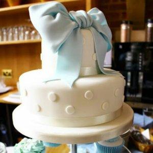 Boys christening cake